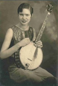 Mareen and banjo ca. 1926